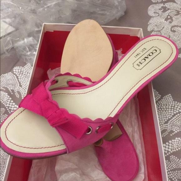 Coach Shoes - Coach Cyndi Kid Suede sandal